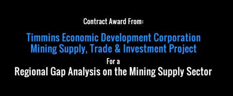 New Contract Award from Timmins Economic Development Corporation